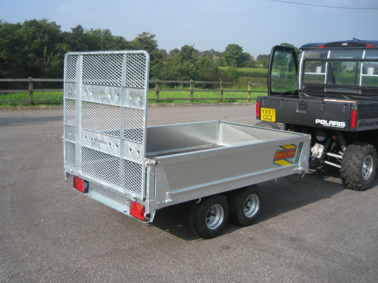 Tractor Supply Axle Trailer : Unbraked trailer bateson trailers