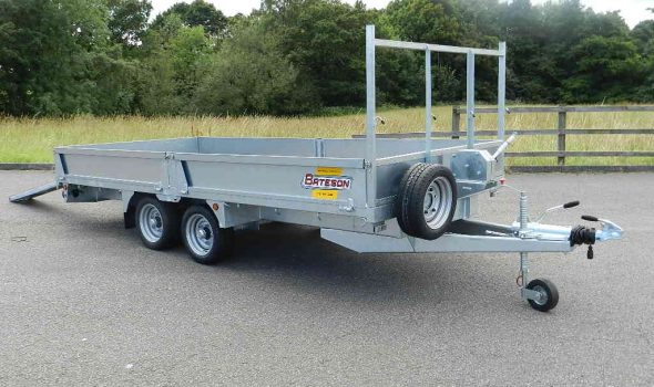 3542 shown with optional steel sides, ramps,ladder rack and a 2 ton winch.