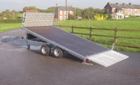 AT36 tILTED WITH SPECIAL ALUMINIUM SIDE LOADING RAMPS AND SHORT RAMP