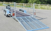 Low approach mesh ramp