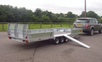 PT56 with sides and side loading ramps and wheel chock