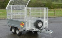 720 complete with optional  Mesh sides open and ramp door