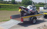 B84 with Motor Bike in