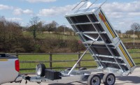 3.5t Tipper with optional ladder rack tipped