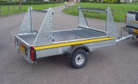 special B84 with extended towbar and higher ladder racks for transporting canoes kayaks and dinghys
