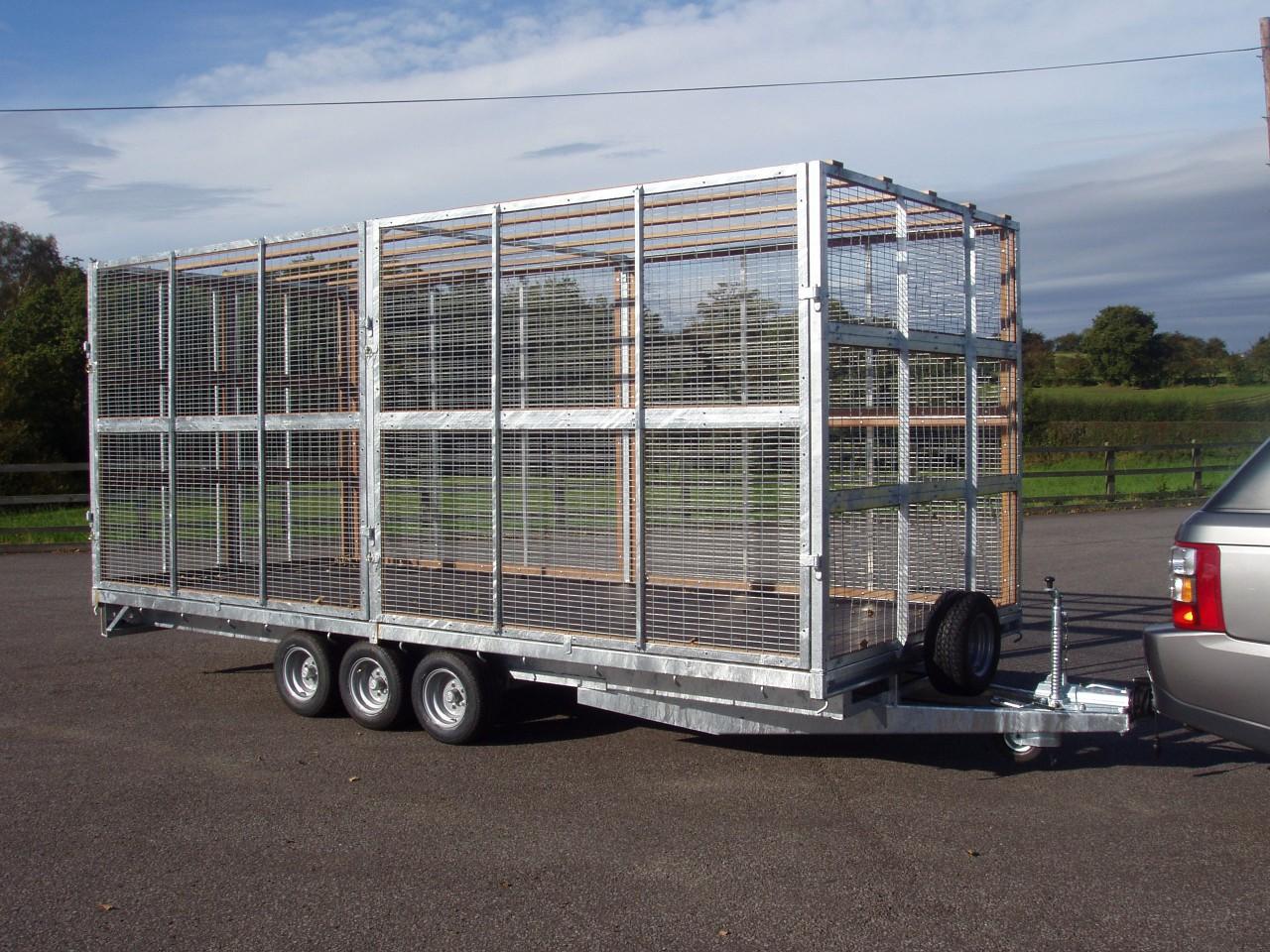 Pf50 Tri Axle Cage Trailer
