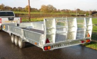 Rear view of trailer with ramp