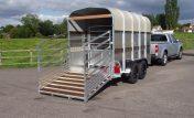 48HB Livestock trailer. 12′ x 7′ high.
